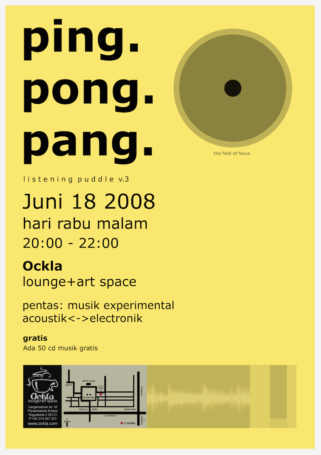 Ping Pong Pang poster for performance event in Yogyakarta, 2008