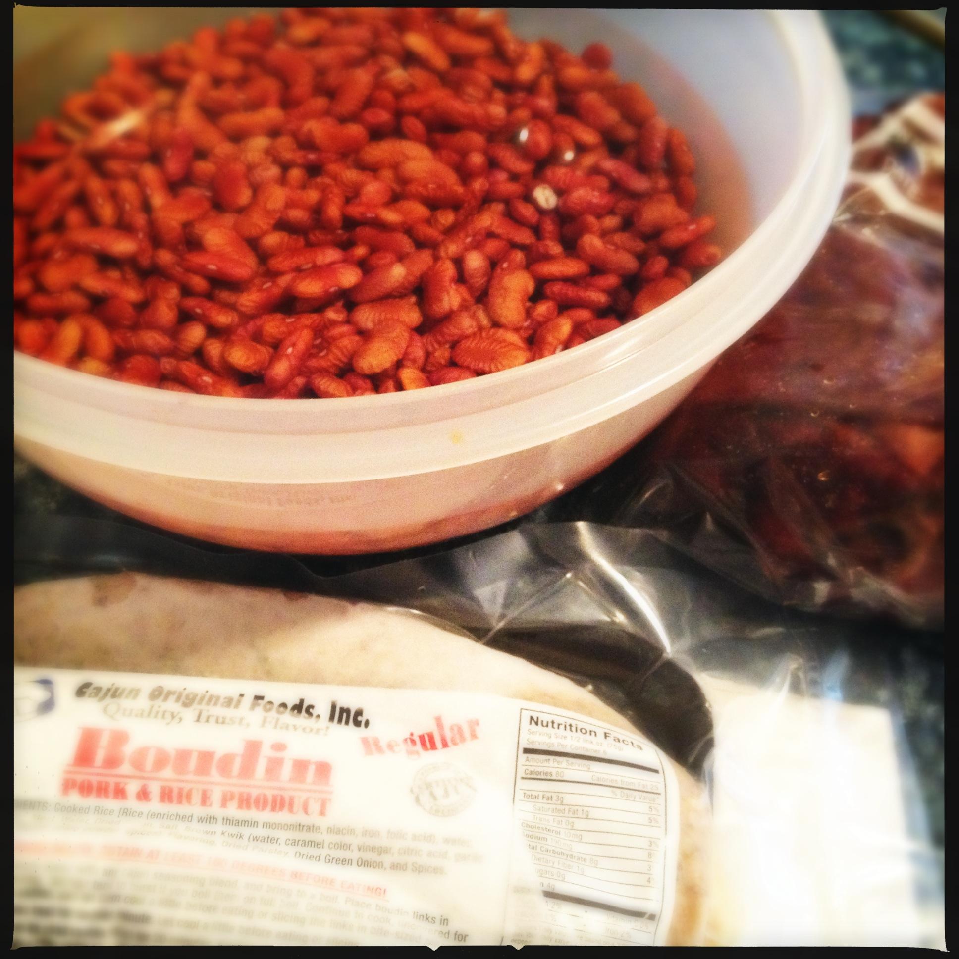 Red Beans, Boudin, Ham Hock