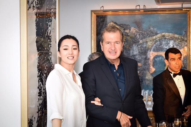 Gong Li and Mario Testino