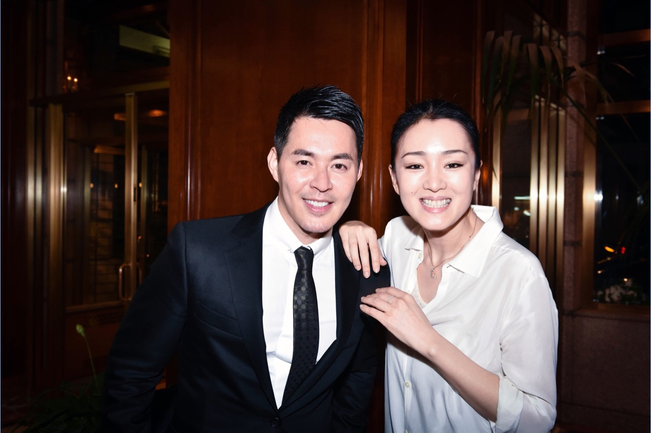 Me (TZ) and Gong Li