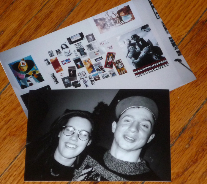 A photo of me and Tom, back when my dorm room walls looked like THAT! Can anyone say early to mid-'90s??