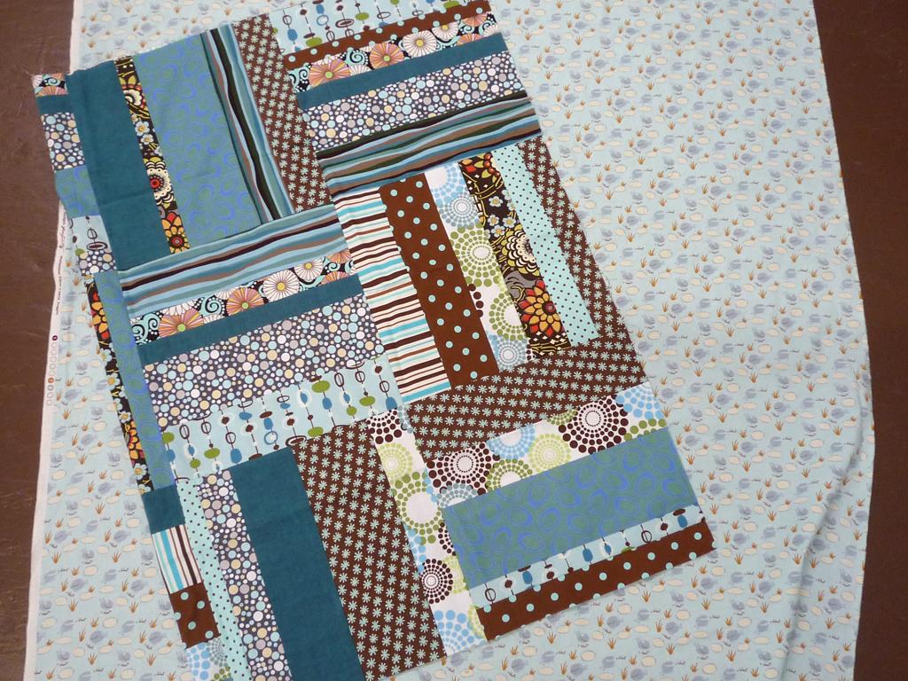 A modern crib quilt (I believe)