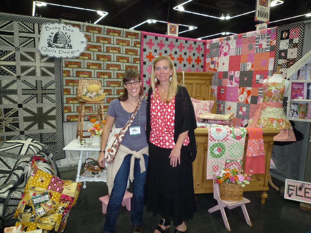 And not to be left out, I had to get at least ONE photo of myself with someone exhibiting... and who better than someone I know and like as much as Michelle!?