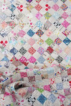 Checkerboard quilt by Red Pepper Quilts. Click image to read her blog post on it!