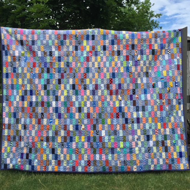 Scrappy Rectangles by KatyQuilts. Click image for her original post.