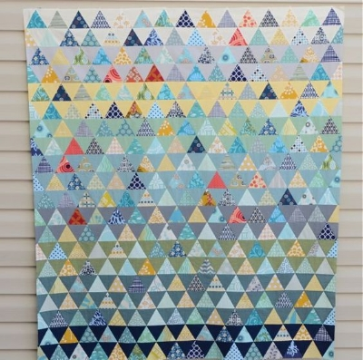 Pyramid quilt by Hyacinth Quilts. Click image for her post.