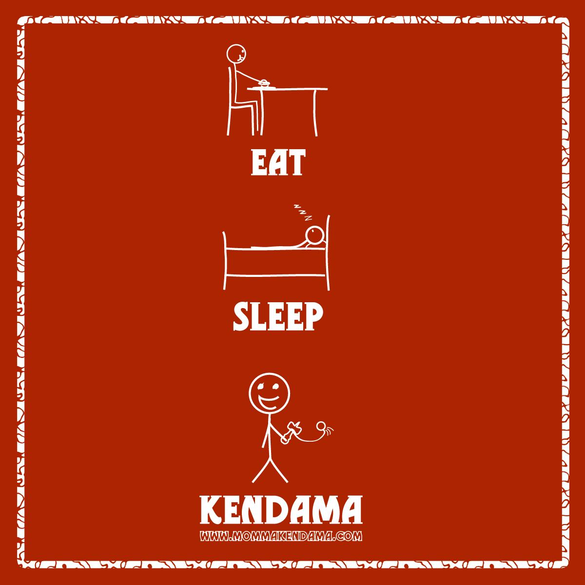 'eat. sleep. kendama.' sticker