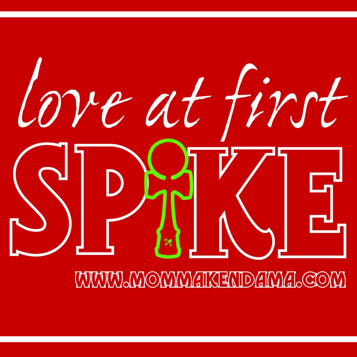 'love at first spike' sticker