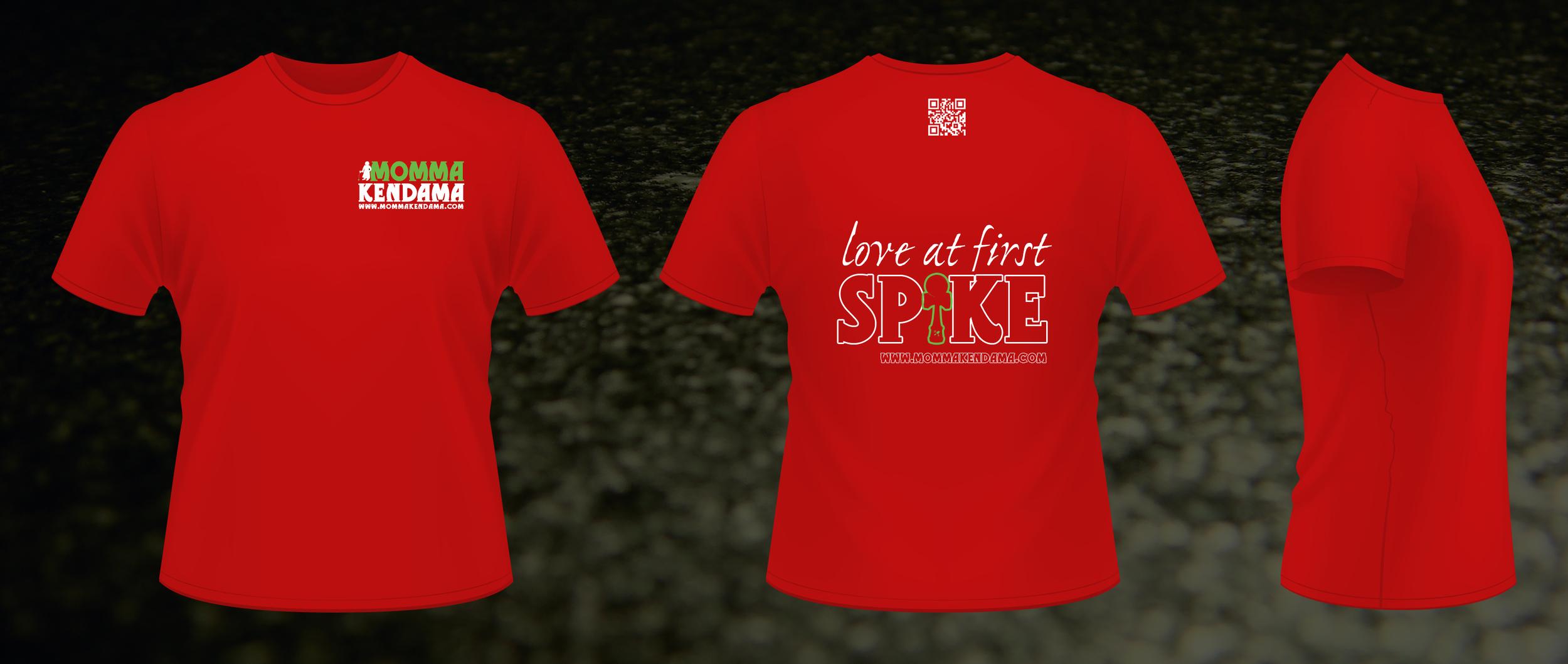 'love at first spike' t-shirt design