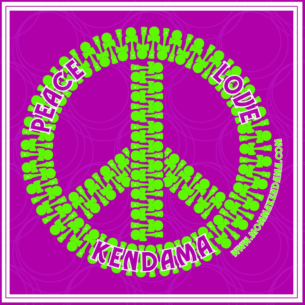 'peace. love. kendama.' sticker