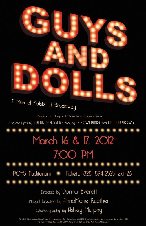 'guys and dolls' poster