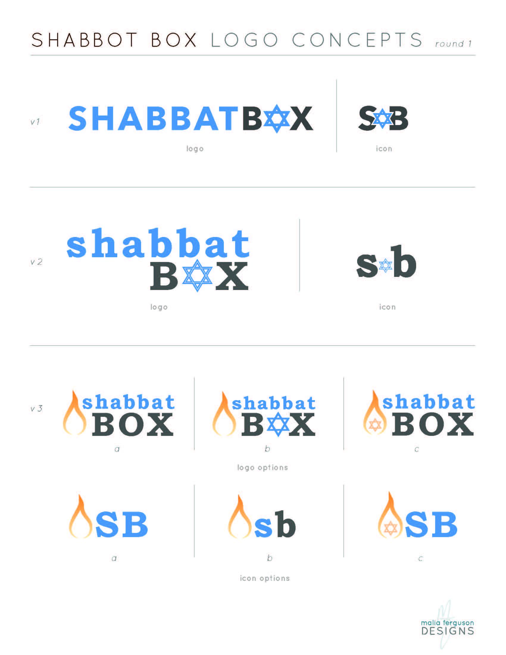 ShabbatBox Logo Concepts