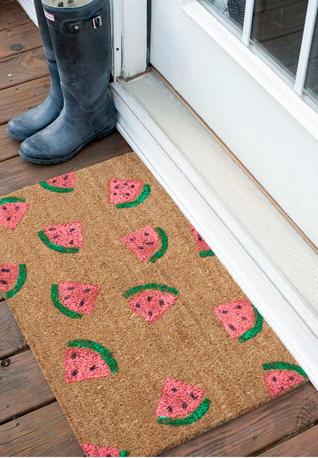 watermelon-doormat-diy