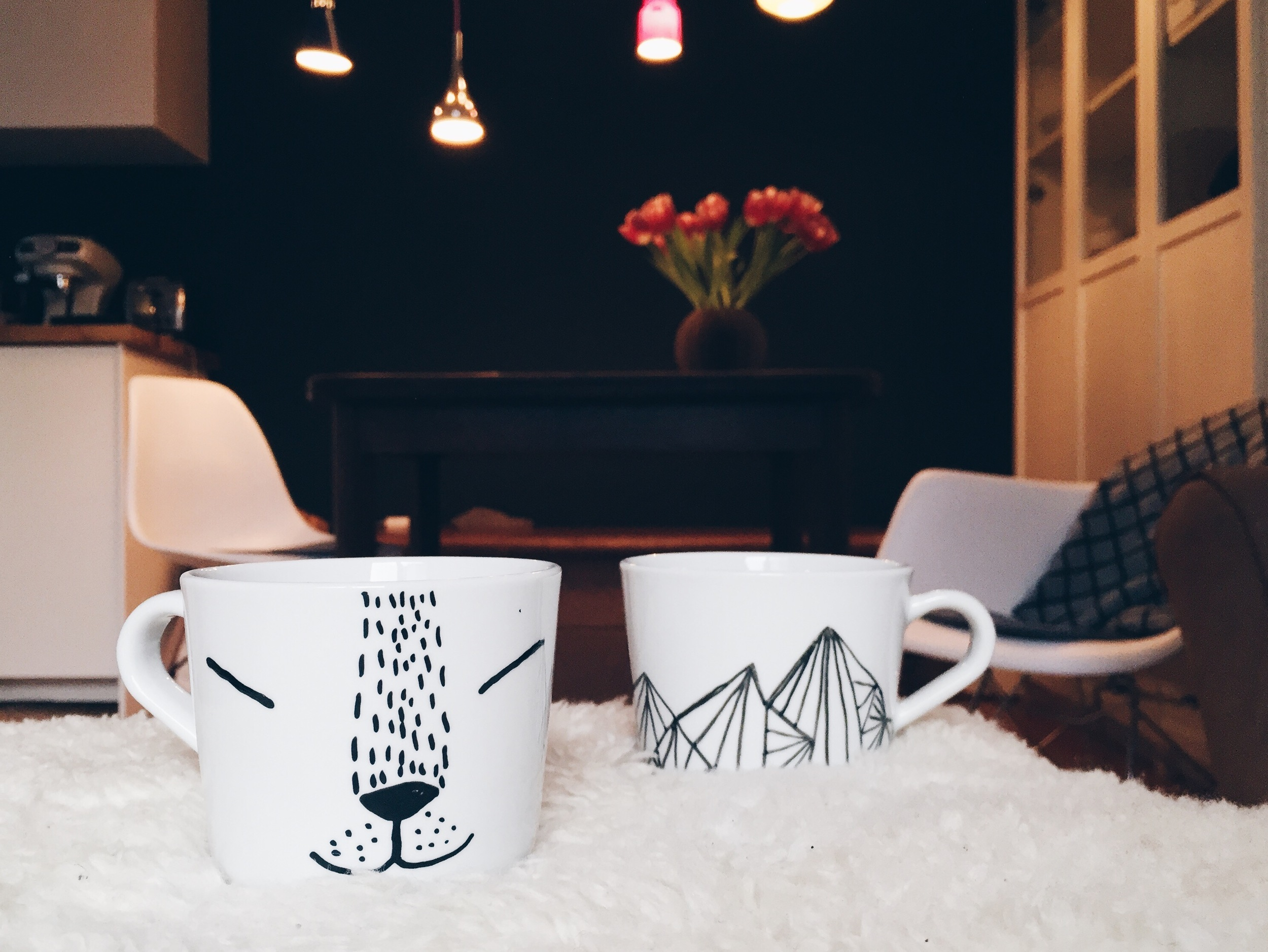 ikea hack: painted mugs