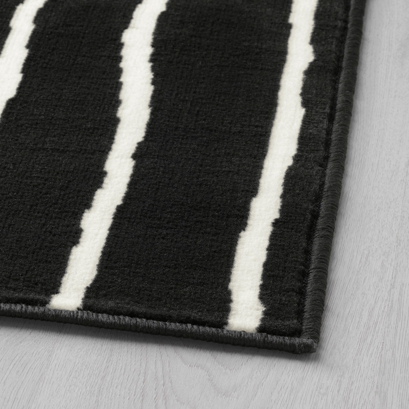 ikea teppich schwarz weiß GÖRLÖSE