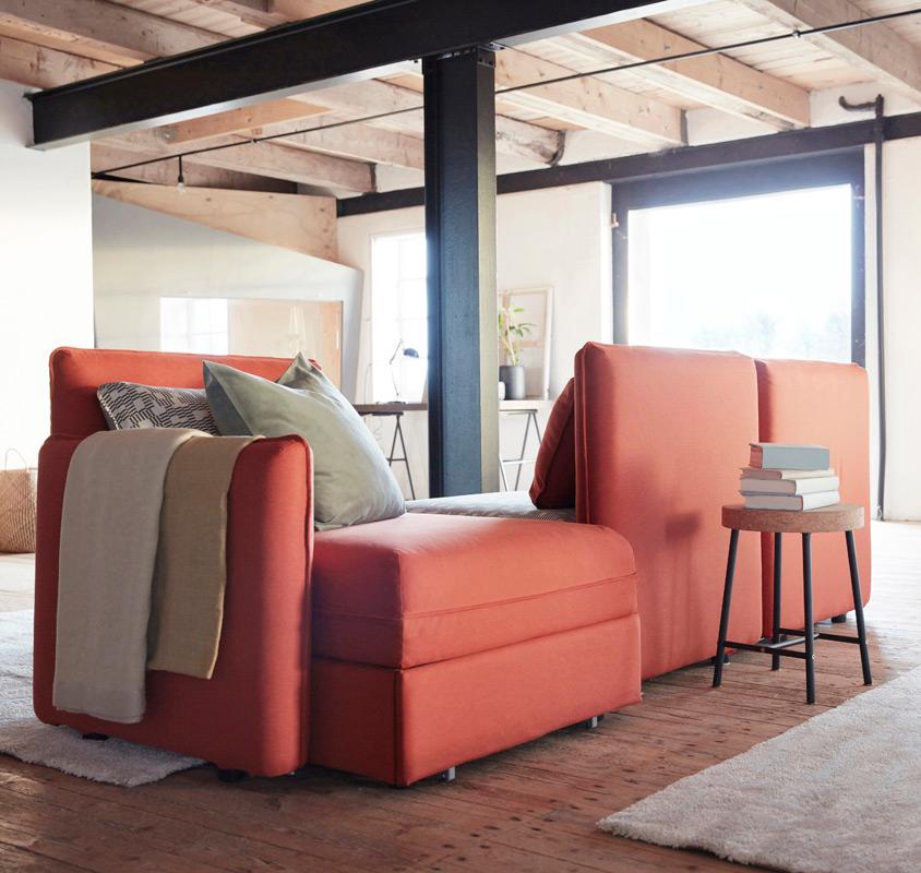 sofa serie vallentuna coralle ikea