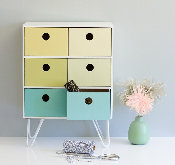 diy retro inspired pastel storage ikea hack