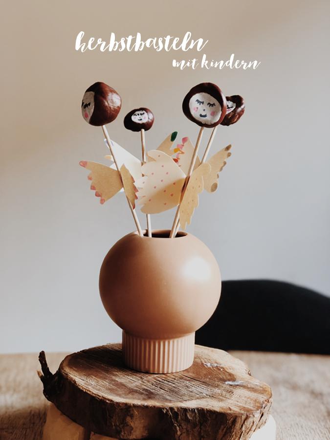 herbstbasteln mit kindern - DIY Kastanienelfen