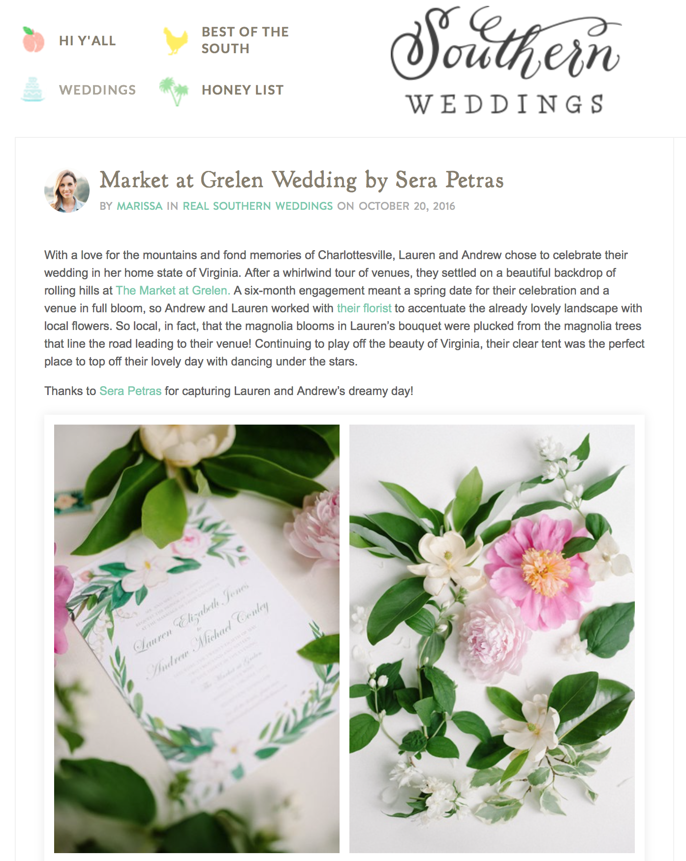 Southern Wedding The Market at Grelen Spring Wedding Feature