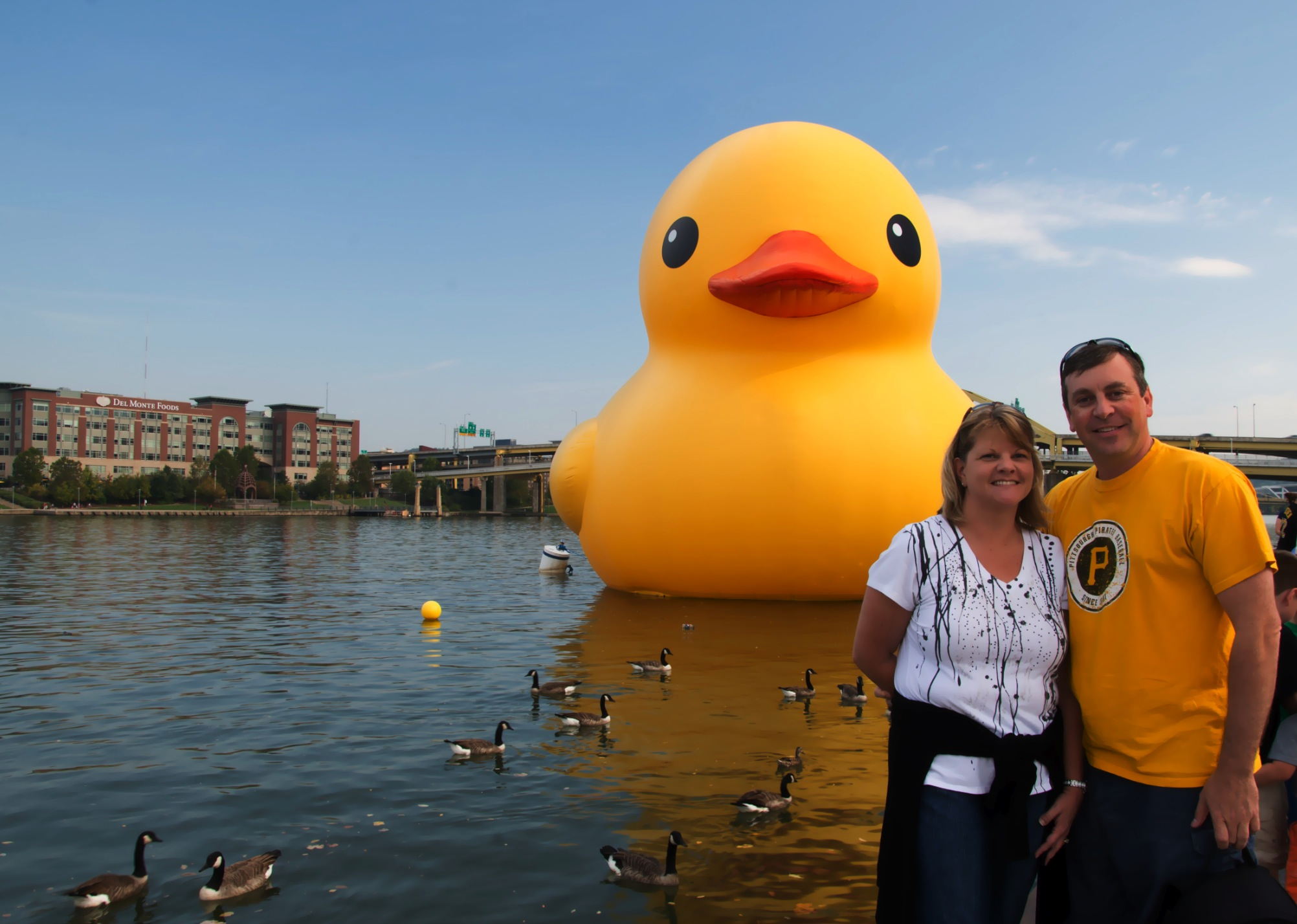 MJ and I with the Giant Rubber Duck.
