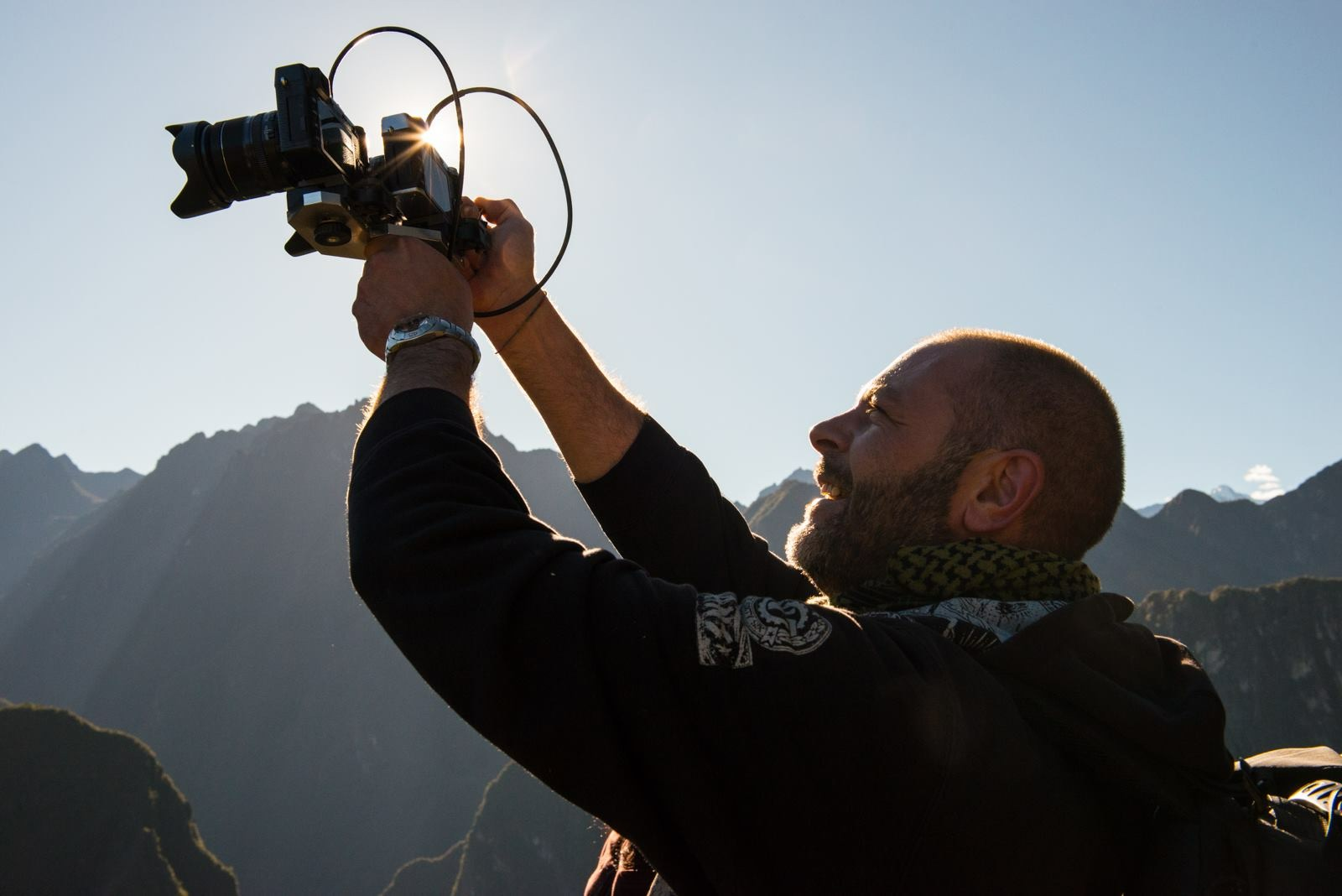 Antonio with his dual 3D camera setup.