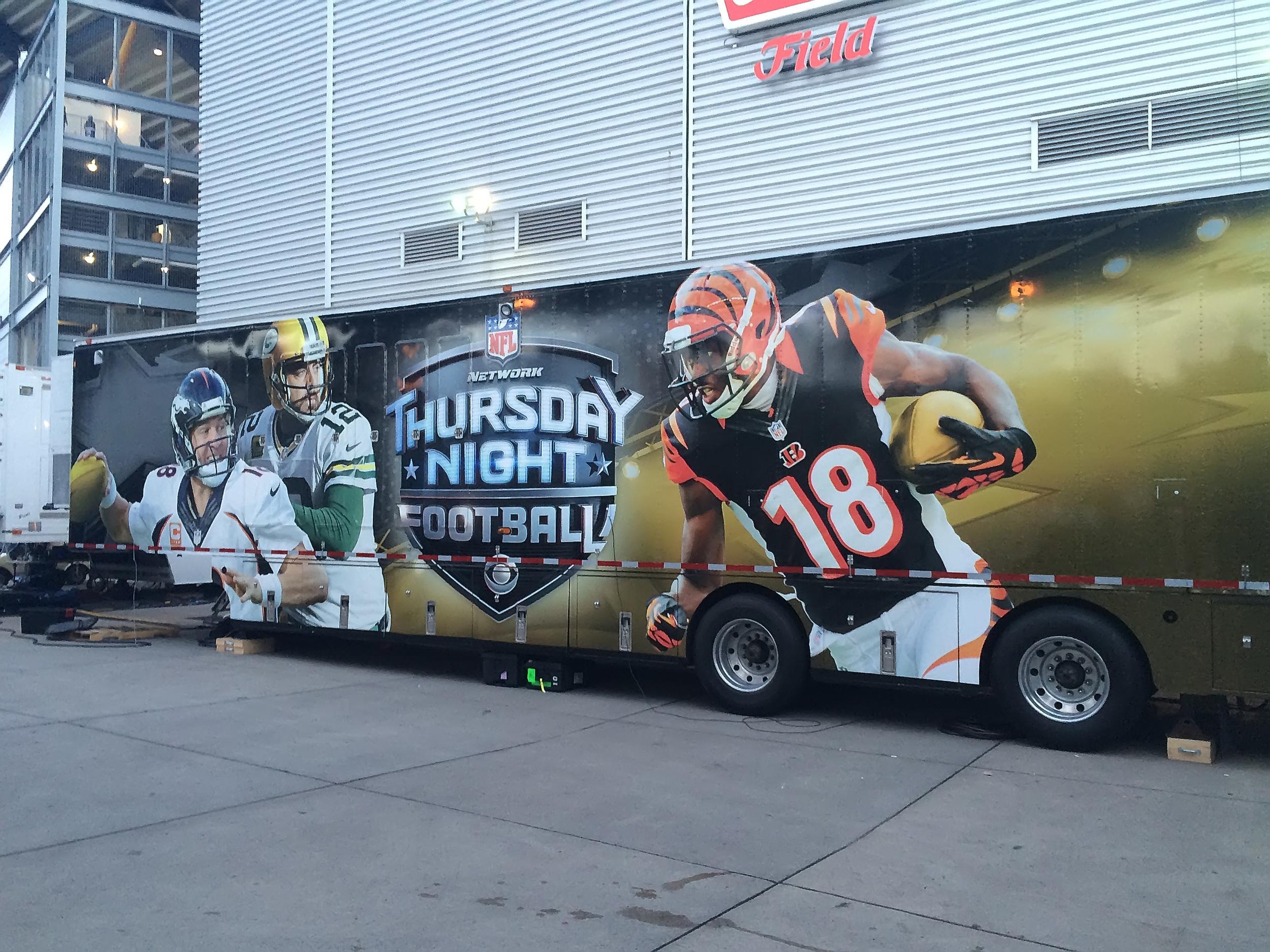 CBS Thursday Night Football truck (taken with my iPhone)