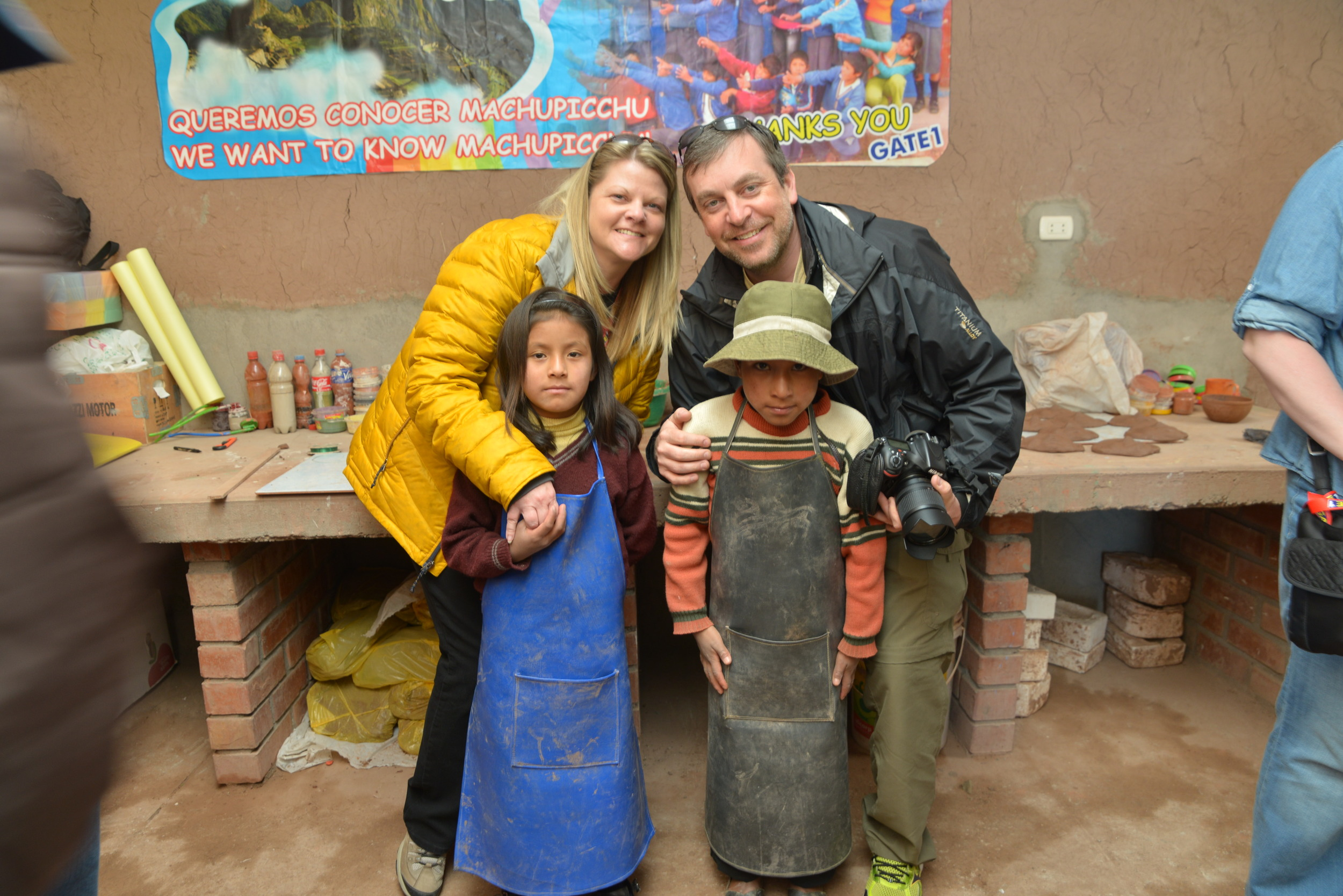 MJ and I at a rural public school in the Andes Mountains deep in Peru.