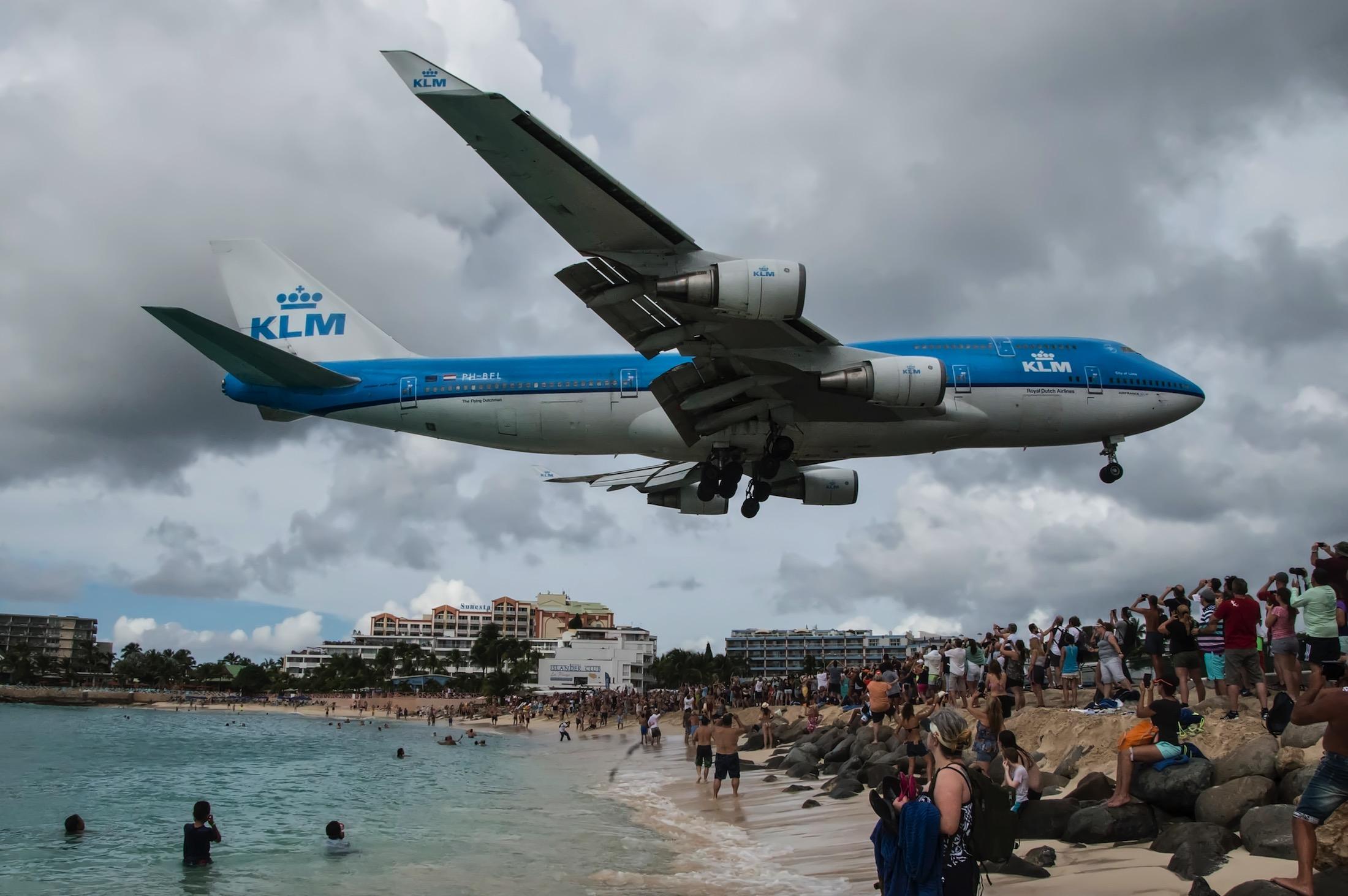KLM in St. Maarten