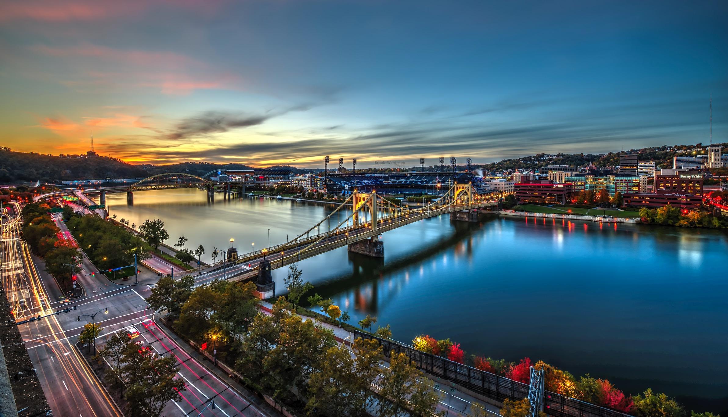 Pittsburgh Light Trails
