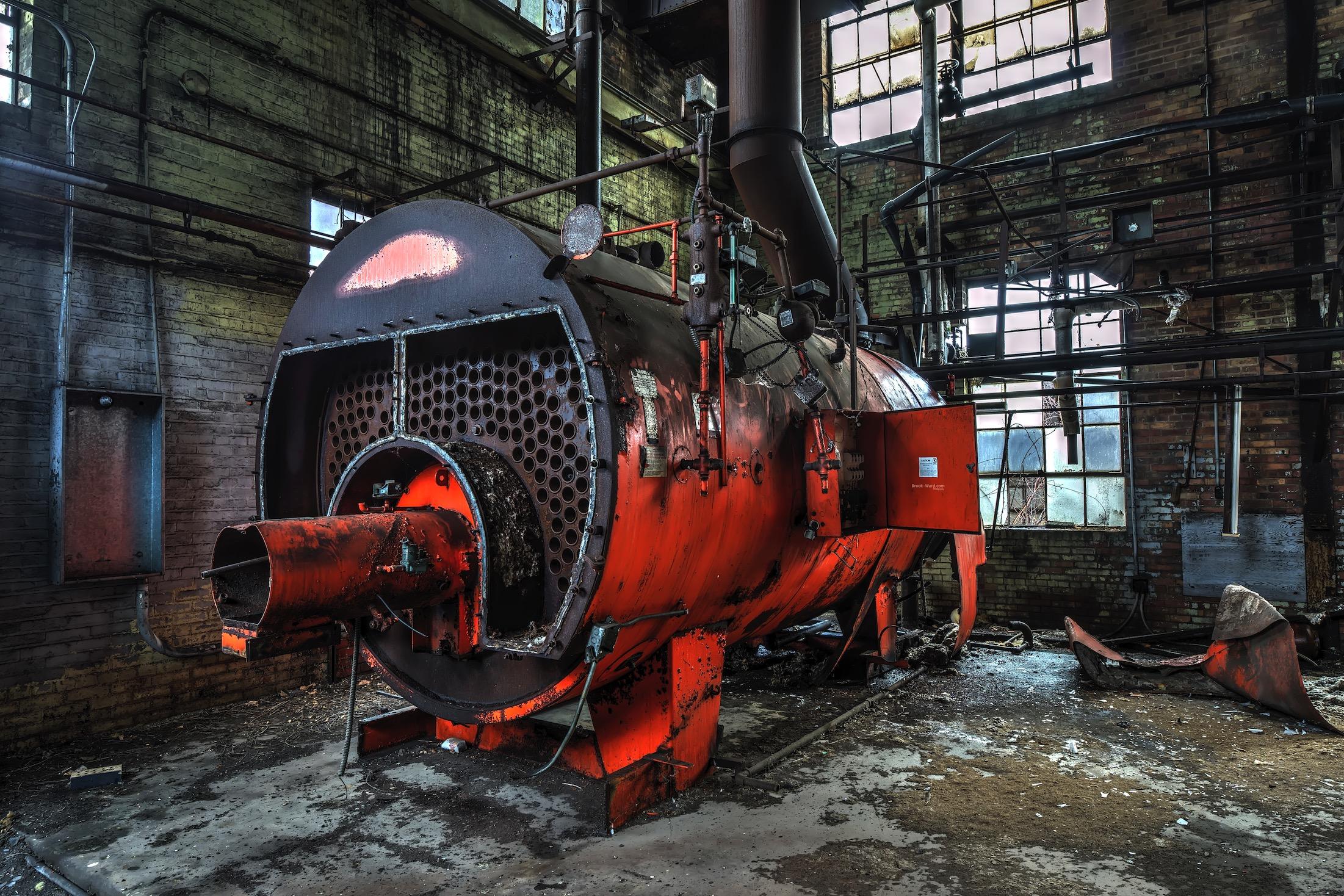 Abandoned China Factory Boiler