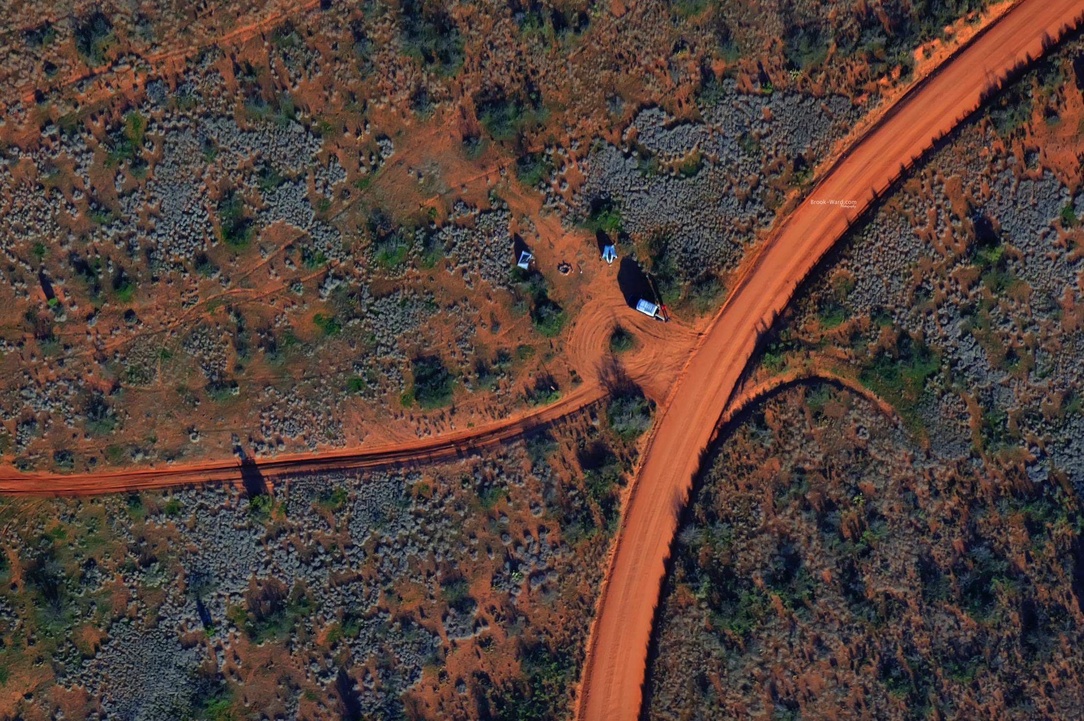 Aerial View of Arizona Desert