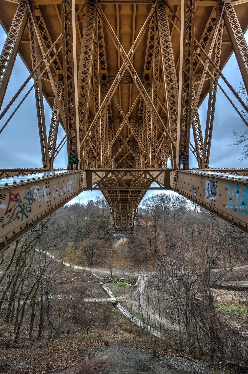 Underside of the bridge