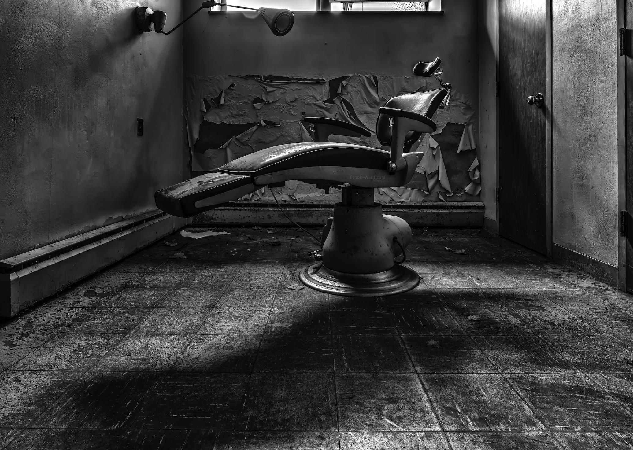 Nursing office at an abandoned school