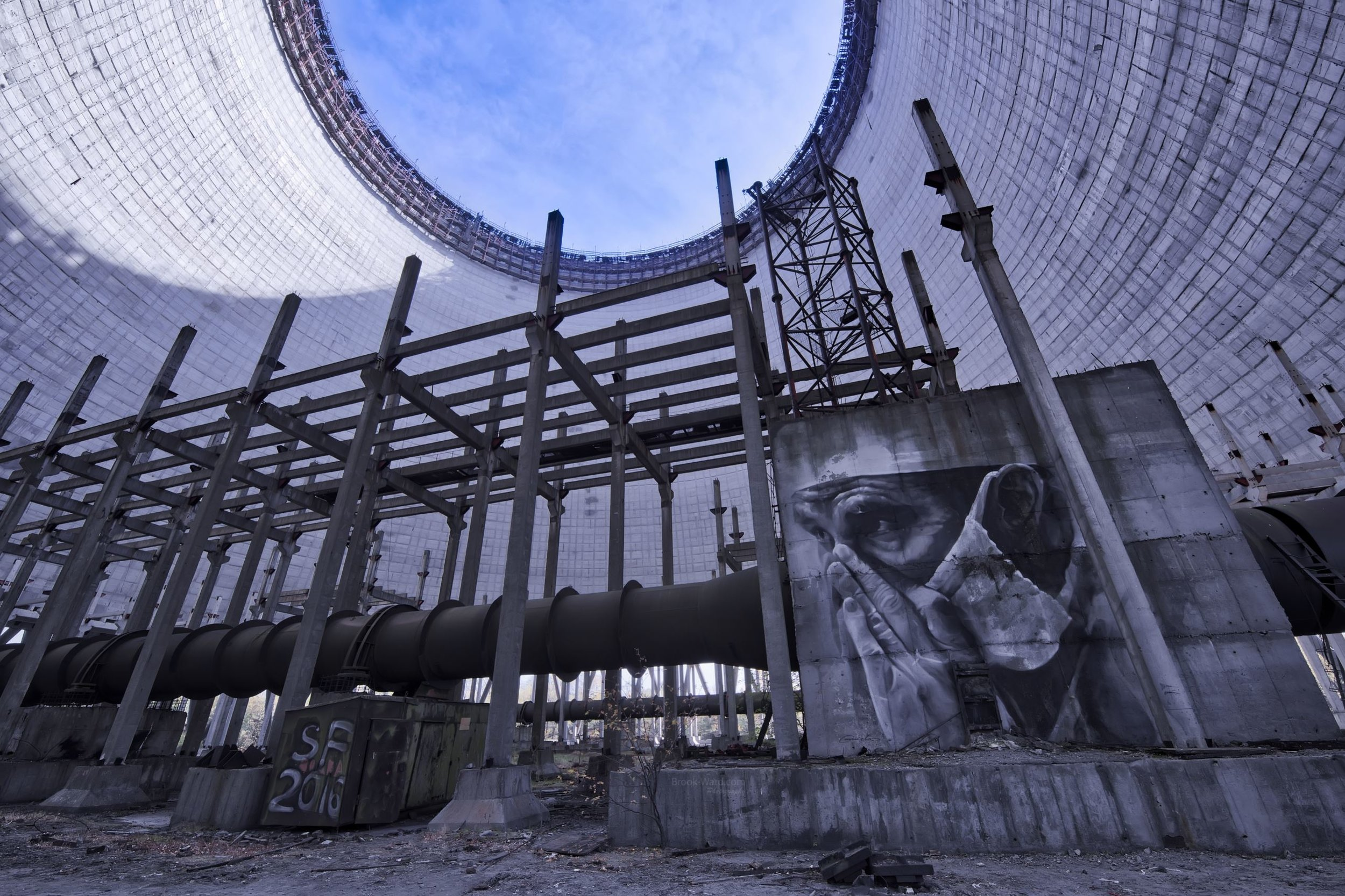 Chernobyl Cooling Tower - Ukraine