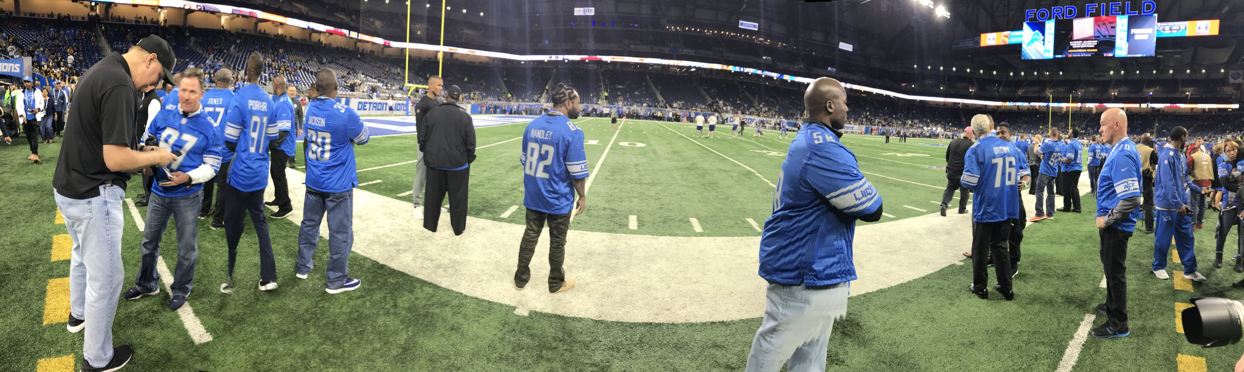 It gets crowded on the sidelines