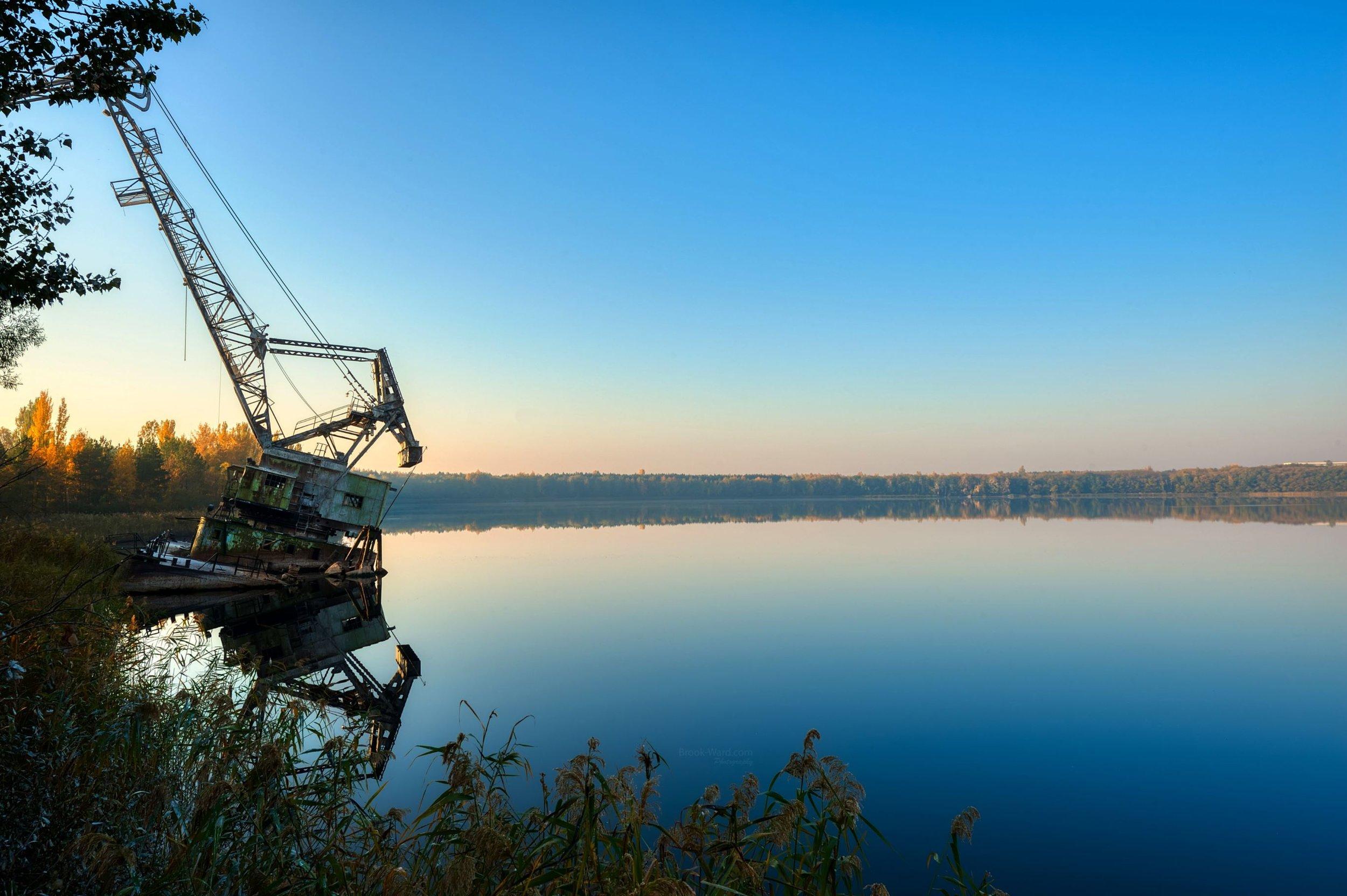 Pripyat River Crane