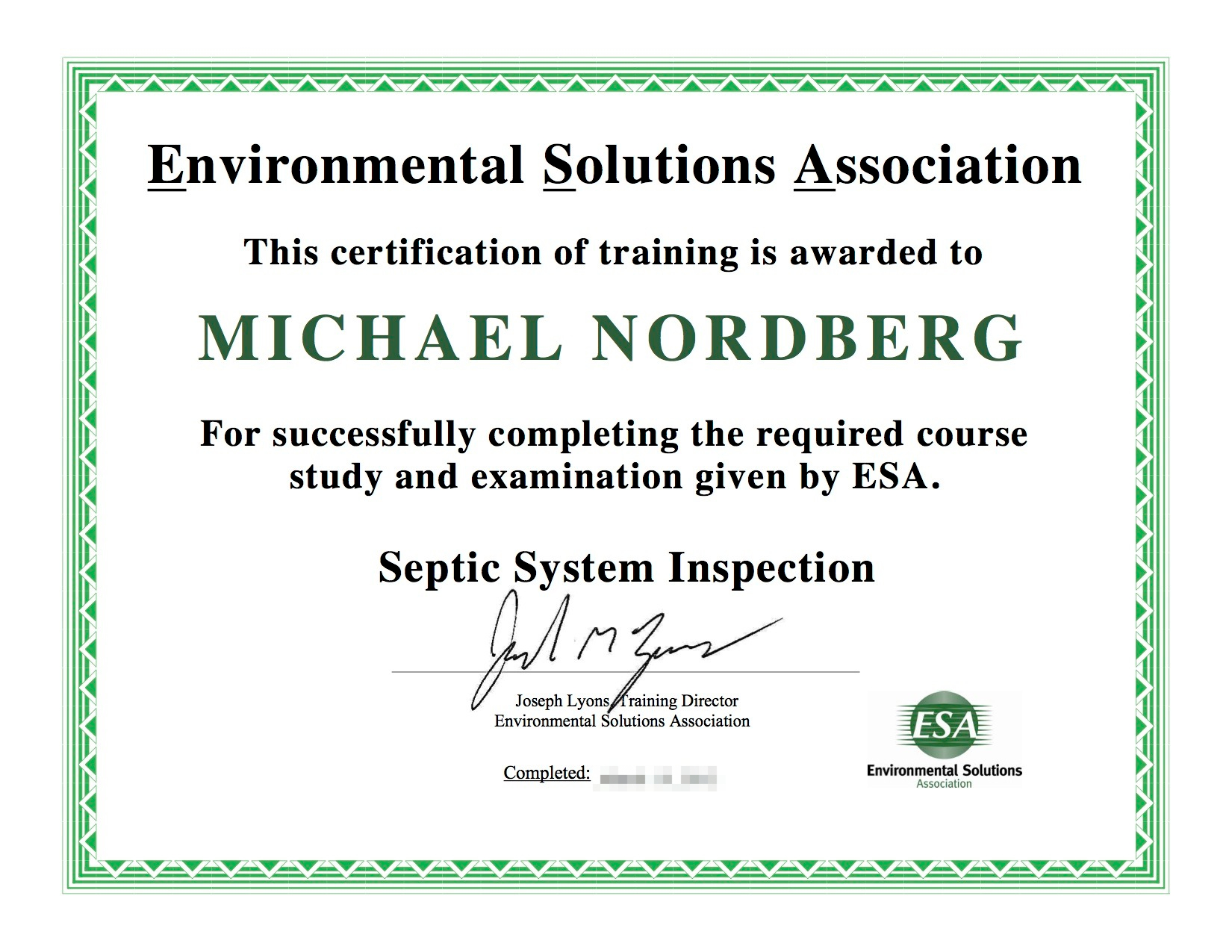 Michael Nordberg Septic System Inspection Cert.jpeg
