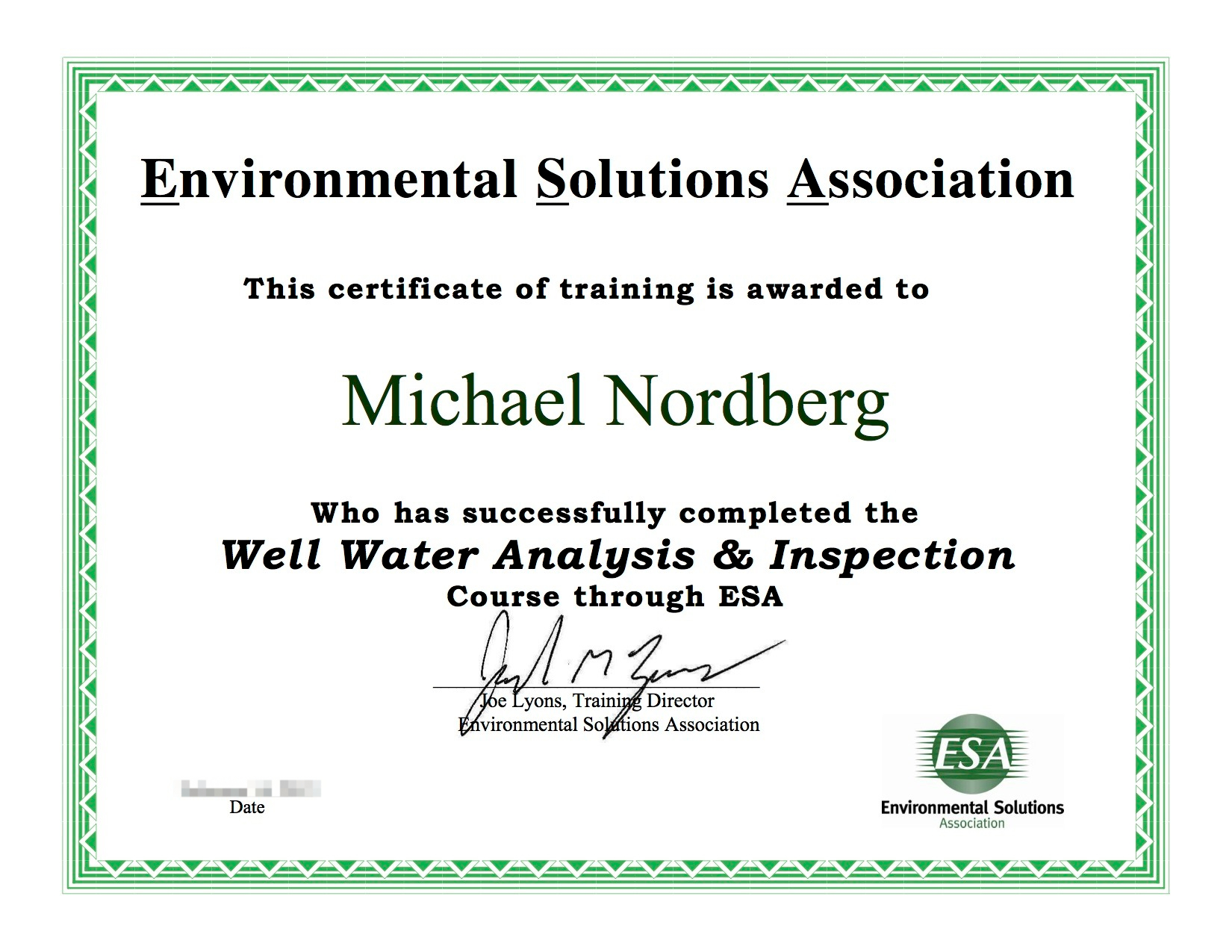 Michael Nordberg Well Water Cert.jpeg