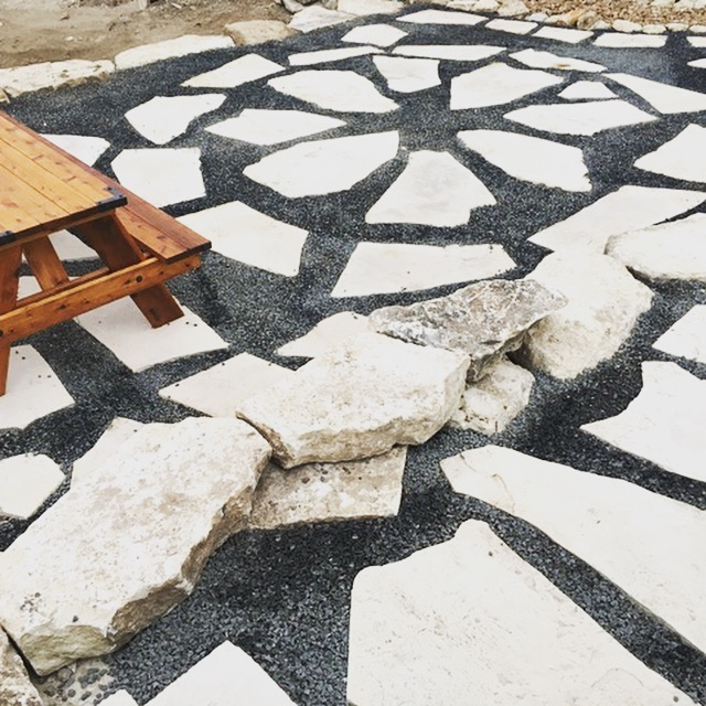 Basalt and Mexican Patio Stone