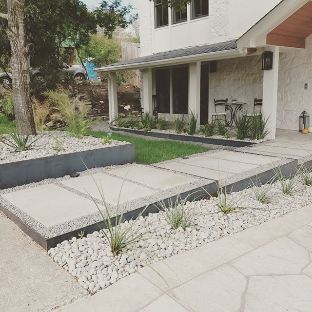 Another project for the books. Looking forward to the next project with these wonderful clients. #xeriscape #landscapingideas #steel #landscaping #atx #austintexas #moderndesign #modernlandscapes
