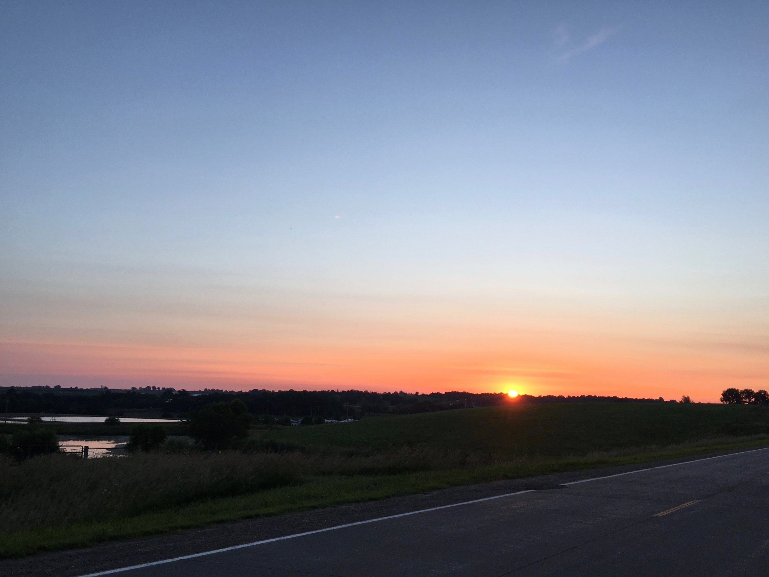 Sunrise outside Sigourney