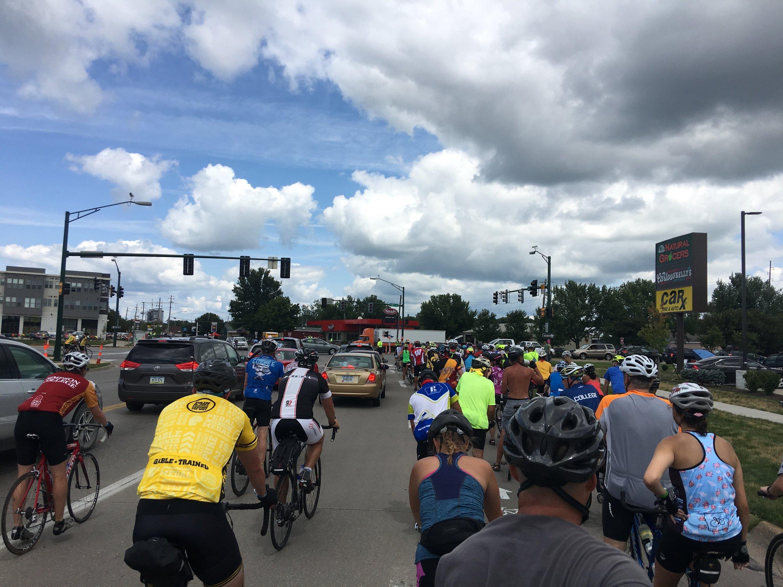 Traffic jam in Iowa City