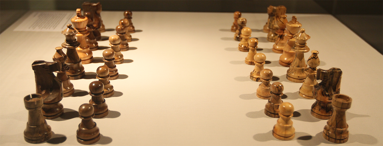 Thomas Jefferson's chess set, on display at the World Chess Hall of Fame