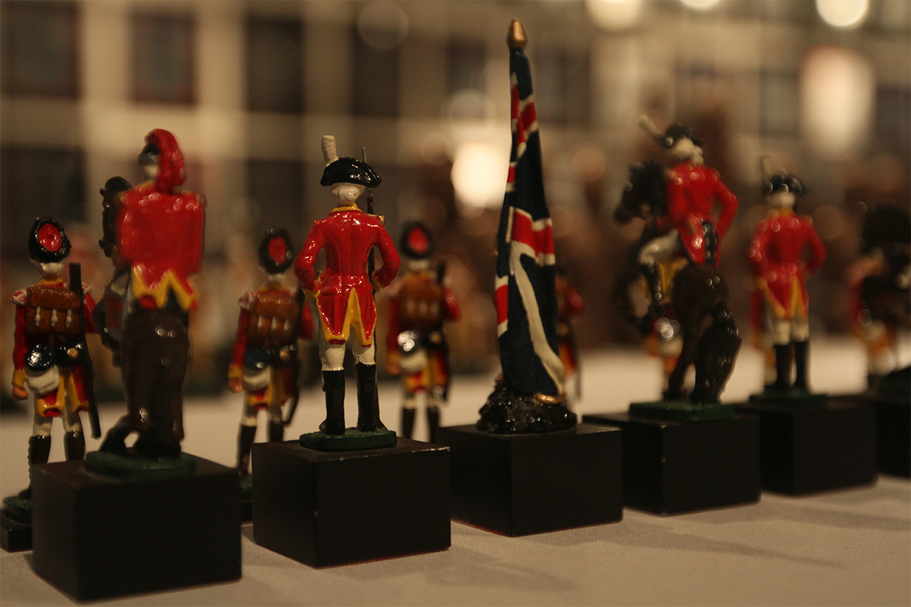 Revolutionary war themed set from World Chess Hall of Fame.