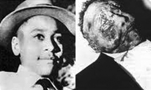 The body of Emmett Till after his kidnap and murder by White Supremacists
