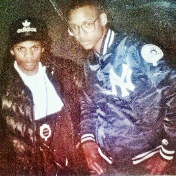 Eazy E and The Bishop at the first NWA show in Richmond, CA circa 1988