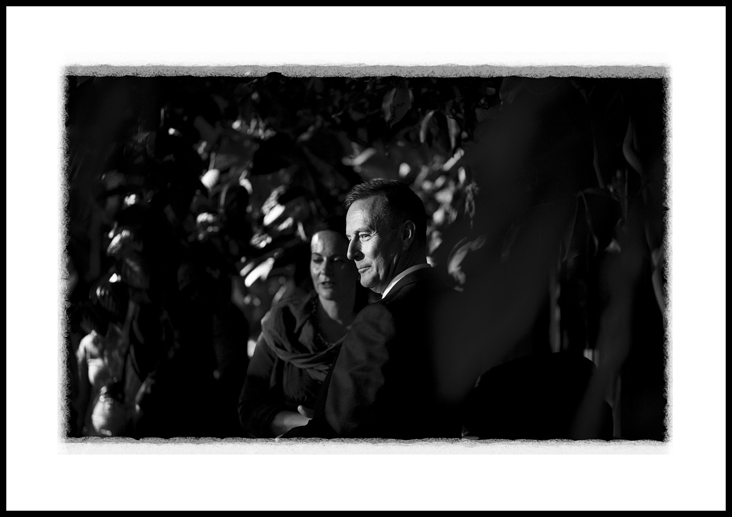 A quiet moment during a drinks reception at Kew Gardens... (85mm lens, 125th/F2, 1600asa)