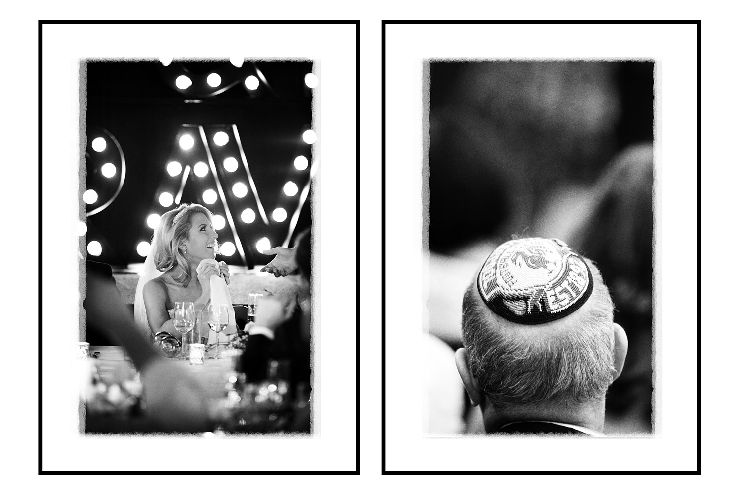Left: lovely moment with the bride reacting to a speech... (85mm lens, 90th/F1.8, 2500asa)   Right: a committed Liverpool fan...(200mm lens, 180th/F2.8, 1600asa)