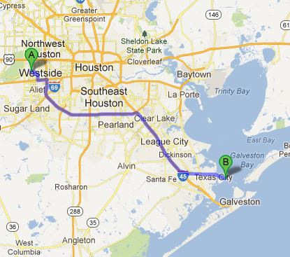 60 some odd mile trip to Texas City Dike
