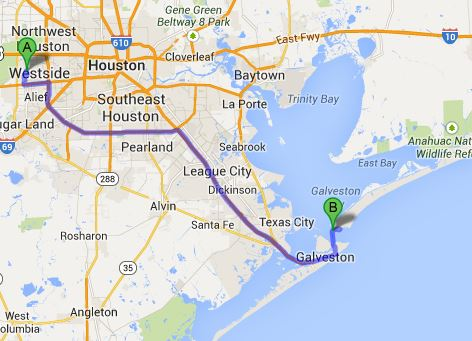 To Galveston and the Ferry over to the Bolivar Peninsula
